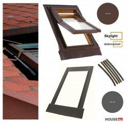 Eindeckrahmen SKYLIGHT F Eindeckrahmen 7043 8019 RAL - für profilierte Eindeckmaterialien / Profilbeläge bis zu 4,5 cm hoch Profil