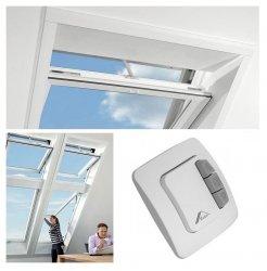 Dachfenster-Set Roto Designo R45 K WD  RotoTronic Kunststoffmit Schalter ZEL und Eindeckrahmen ZIE