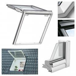 Dachfenster Velux GTU 0066 3-fach Verglasung Kunststoff  Wohn- und Ausstiegsfenster mit Klapp-Schwing-Funktion Uw Wert=1,0 (W/m²K) ENERGIE PLUS Polyurethan / Aluminium MK08 SK08