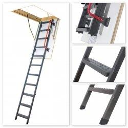 Bodenteppe FAKRO LMK Mehrteilige Bodentreppe mit Metallleiter U=1,1 W/m²K