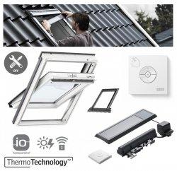 VELUX INTEGRA® Dachfenster Solarfenster GLU 0051 2-fach satz Schwingfenster aus Kunstoff– Solar Automatische Fenstern satz DIY - Mach es selbst GLU / EDZ / + KSX 100K  Solar-Nachrüst-Set - io-homecontrol System