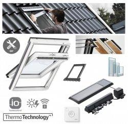 VELUX INTEGRA® Dachfenster Solarfenster GLU 0061 3-fach satz - Mach es selbst - Schwingfenster – Kunstoff - Solar Automatische Fenstern - satz DIY - GLU / EDZ / KSX 100K  Solar-Nachrüst-Set - io-homecontrol System