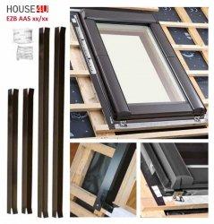 Roto EZB AAS Rx Eindeckrahmen Anschluss-System Außen-Anschluss-Set für alle wärmegedämmten Dachfenster, ROTO Designo Montagezubehör