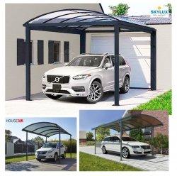 ClimaCar Carport  Struktur, tabiler, freistehender SKYLUX Carport 3mx5m H:2,48m mit Bogendach Nur 4 Stützpfosten, Grau 7016