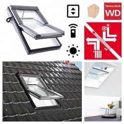 Dachfenster Roto Designo WDT R69G E_ H WD AL Blue tec Uw=1,0 Schwingfenster aus Holz mit Wärmedämmblock 3-fach Verglasung Energiesperende gehärtetes und laminiertes Glas