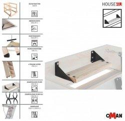 Zusätzliche Stufe für OMAN Bodentreppe DSS DS-2 Bodentreppenzubehör