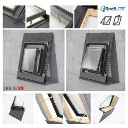 Ausstiegsfenster Rooflite Skylight Fenstro mit Isolierschürze  für ungeheizte Räume, Dreh- oder Klappfenster