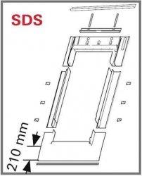 Eindeckrahmen Roto EDR SDS für Flachdecken Eindeckmaterialien ohne WD
