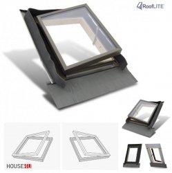 Ausstiegsfenster Rooflite 65x65 - 85x85 Drehfenster mit Begrenzer, Skylight Fenstro für ungeheizte Räume Öffnung: links oder rechts, Kaltraumfenster