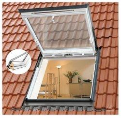 Wohn- und Ausstiegsfenster Velux GTU Klapp-Schwing-Funktion THERMO PLUS Uw=1,3 aus Kunstoff THERMO Aluminium