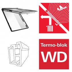 Dachfenster Roto Designo WDF R86E K WD Klapp-Schwingfenster aus Kunststoff acusticLine NE mit Wärmedämmblock