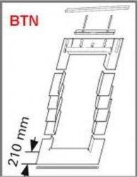 Eindeckrahmen Roto EDR BTN für bitumenschindel mit WD