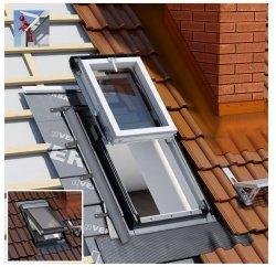 Dachluken Okpol IGWX+ E2 55x78 für Nutzräume Uw=1,2 Dachausstiegsfenster aus Kunststoff SOLID+ PVC - Ausstiegsfenster - Dachausstieg - Dachluke - Dachfenster