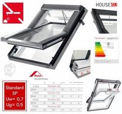 Roto Dachfenster Q4 Premium Tronic QT4 K3P P5E Kunststoff Schwingfenster Elektrisch 3-fach Verglasung Uw-Wert: 0,77  Aluminium