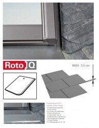 Kombi-Eindeckrahmen Roto Q-4 EDS 1/2 Eindeckrahmen - für Flachdecken und profilierte Eindeckmaterialien bis max. 35 / Dachziegel oder Bitumenschindeln Schiefer