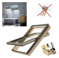 OUTLET: Dachfenster Fakro PTP/PI U3 55x118  Schwingfenster MIT ERHÖHTER FEUCHTERESISTENZ ohne Dauerlüftung