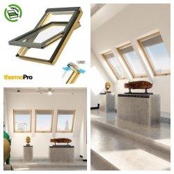 FAKRO Dachfenster FTP-V P2 Secure, Schwingfenster aus Holz, mit erhöhtem Einbruchschutz topSafe-System Secure, Verbund-Sicherheitsglas mit selbstreinigenden Eigenschaften, Scheibenausbauschutz,ESG außen, Verbund-Sicherheits