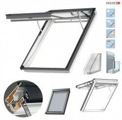 VELUX Dachfenster GPU 007021 Klapp-Schwingfenster INTEGRA Elektrofenster, Kunststoff, Polyurethan THERMO, 2-fach - Verglasung _ _70 ESG außen, VSG innen, mit Riesen-Öffnungswinkel, Alu