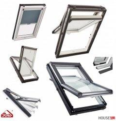 Dachfenster Roto Designo R75 K WD 07/11 78x118 Hoch-Schwingfenster aus Kunststoff blueLine mit Wärmedämmblock