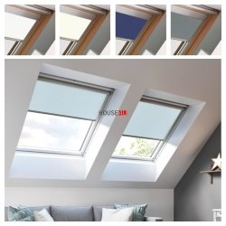 Verdunkelungsrollo ESSENTIALS für Keylite Dachfenster in Führungen
