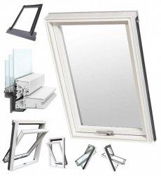 Dachfenster RoofLITE® TRIO PVC APY 3-Fach PVC-Profile Uw=1,1 Profile in Weiß VKR-Gruppe (VELUX, Altaterra) Dachfenster-Set Dachschwingfenster mit Eindeckrahmen