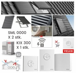 Werbepaket Velux SML x2 + KIX 300 Außenrollladen Aluminium INTEGRA® Elektro-Rollladen Dunkelgrau