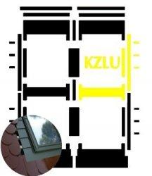 Kombi-Eindeckrahmen Okpol KZLLLH für hohe Biberschwanzeindeckungen