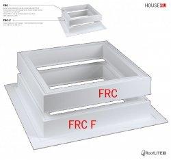 ROOFLITE Adapterkränzen FRC F, Adapterkranz mit Flansch (+15cm) Einbauzubehör für FRF B600/ FRE B600