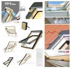 Dachfenster Fakro FTP-V Z-Wave U5 Schwingfenster aus lackiertem Holz, mit 3-fach Verglasung Uw= 0,97 Superenergiesparende, Z-Wave-Fenster, Dauerlüftung V40P topSafe-System, FTP-VELEKTRISCH GESTEUERTE SCHWINGFENSTER