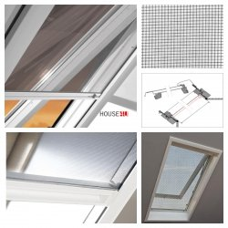 OUTLET: Insektenschutzrollo ZRI 78x98 84/R8 S-300 für Dachfenster Designo R8