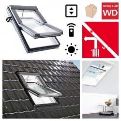 Dachfenster Roto Designo WDT R68C E_ H WD AL blueLine Schwingfenster aus Holz mit Wärmedämmblock 2-fach Standard-Verglasung