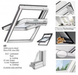 OUTLET: VELUX Schwingfenster GGU 0060 SK08 114x140 5-STAR aus Kunststoff 5 THERMO PLUS