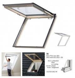 VELUX Dachfenster GTL 3070 Uw=1,3 Holz Wohn- und Ausstiegsfenster mit Klapp-Schwing-Funktion klar lackiert THERMO  Aluminium