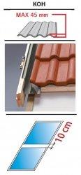Kombi Eindeckrahmen 1/2 Oman KUF für profilierte Eindeckmaterialien 0 - 45mm