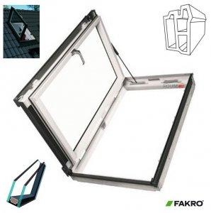 OUTLET: Ausstiegsfenster Fakro PWP U3 PVC 78x140 Nach links öffnend aus Kunststoff Versand 48H