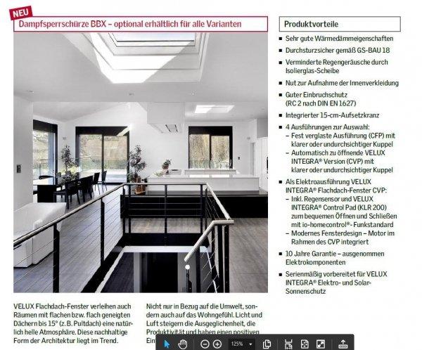 VELUX Flachdach-Fenster CVP 0673QV - elektrisch, einbruchssicher