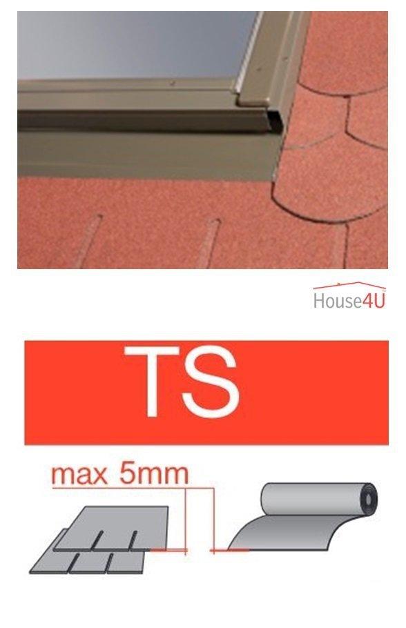 Eindeckrahmen Optilight TS Eindeckrahmen - für Flachdecken und profilierte Eindeckmaterialien bis max. 5 mm / Dachziegel oder Bitumenschindeln Schiefer www.house-4u.eu