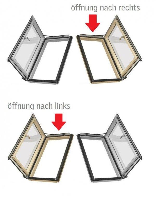Fakro Flachdach Thermoisolations - Ausstiegsfenster System  EFE + FWR / FWL U3