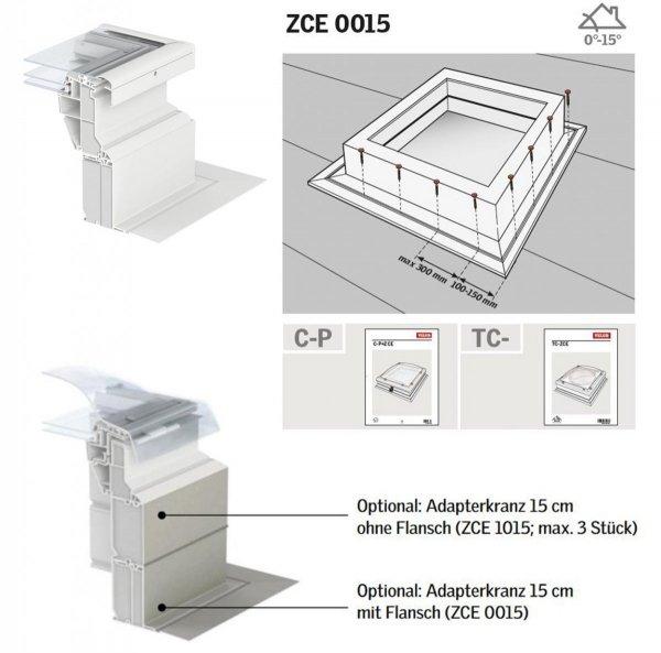 VELUX ZCE 0015 Adapterkranz 15 cm mit Flansch www.house-4u.eu