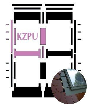 Kombi-Eindeckrahmen Okpol KZPLH für hohe Biberschwanzeindeckungen www.house-4u.eu
