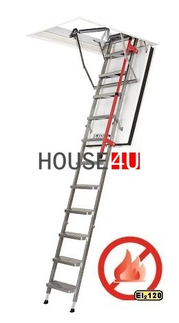 feuerhemmende Bodentreppen FAKRO LMF U=0,79 W/m²K www.house-4u.eu