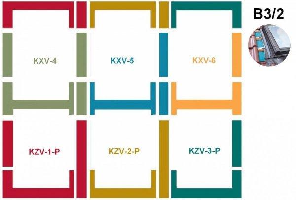 Kombi-Eindeckrahmensystem Fakro KZV B3/2 für profilierte Eindeckmaterialien www.house-4u.eu