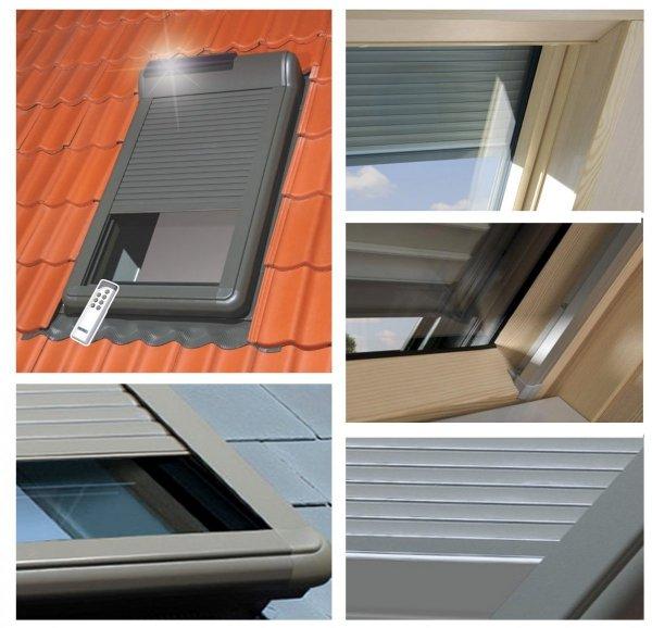OUTLET:Außenrollladen Fakro ARZ Solar 102 78x140 Solar-Rollläden