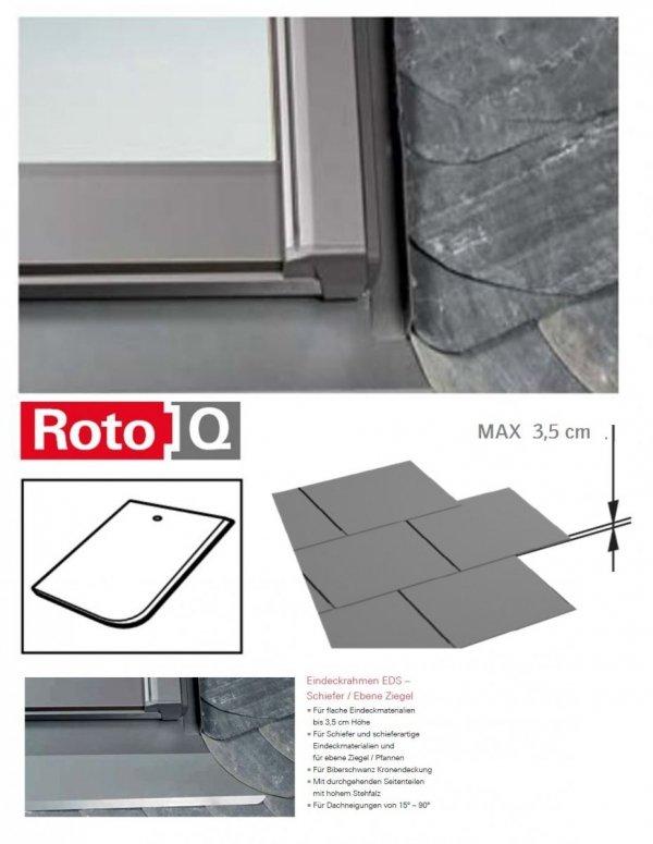 Kombi-Eindeckrahmen Roto Q-4 EDS 2/2 Eindeckrahmen - für Flachdecken und profilierte Eindeckmaterialien bis max. 35 / Dachziegel oder Bitumenschindeln Schiefer www.house-4u.eu