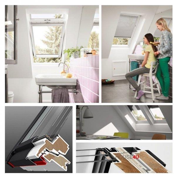 VERSAND 48H VELUX Dachfenster GLU 0061 FK06 66x118 3-fach-Verglasung Uw= 1,1 ENERGIE Schwingfenster Kunststoffqualität mit Dauerlüftung ThermoTechnology