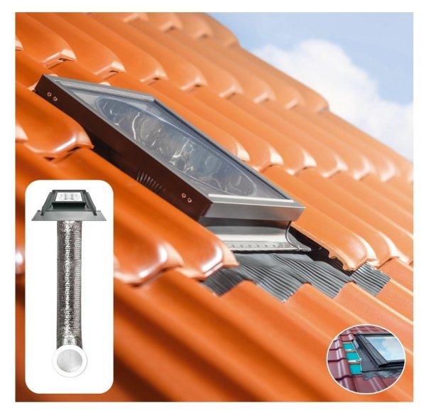 Tageslicht-Spot FAKRO SFZ 550 mit flexiblem Rohr3