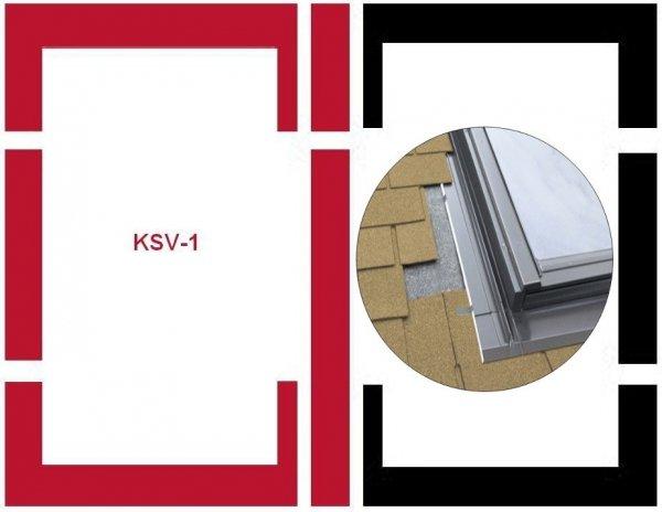 Eindeckrahmen Fakro KSV-1 Modul für die Kombination übereinander für flache Eindeckmaterialien www.house-4u.eu