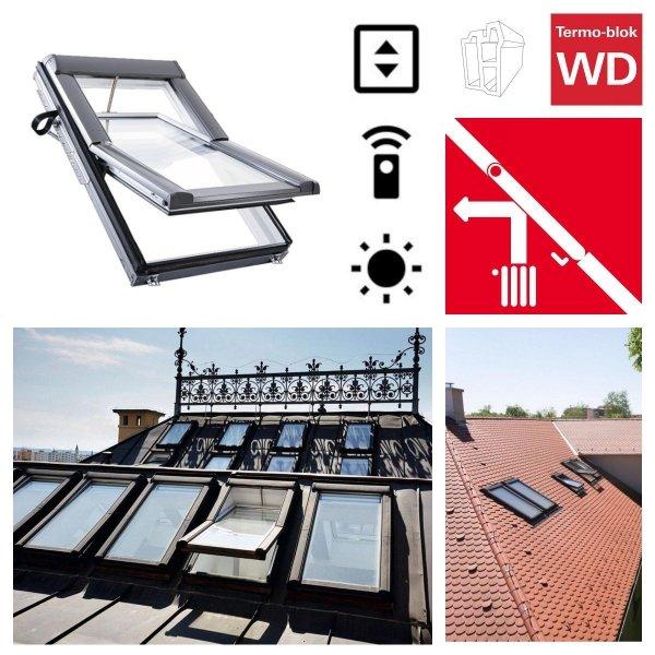 Dachfenster Elektrofenster Roto Designo WDT R45 H WD E_ RotoTronic Holz Automatische Fenstern 2-fach Verglasung