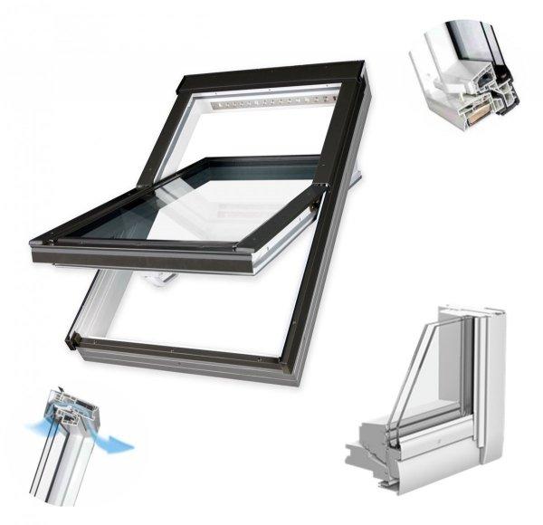 Dachfenster Fakro PTP-V U3 Schwingfenster MIT ERHÖHTER FEUCHTERESISTENZ www.house-4u.eu