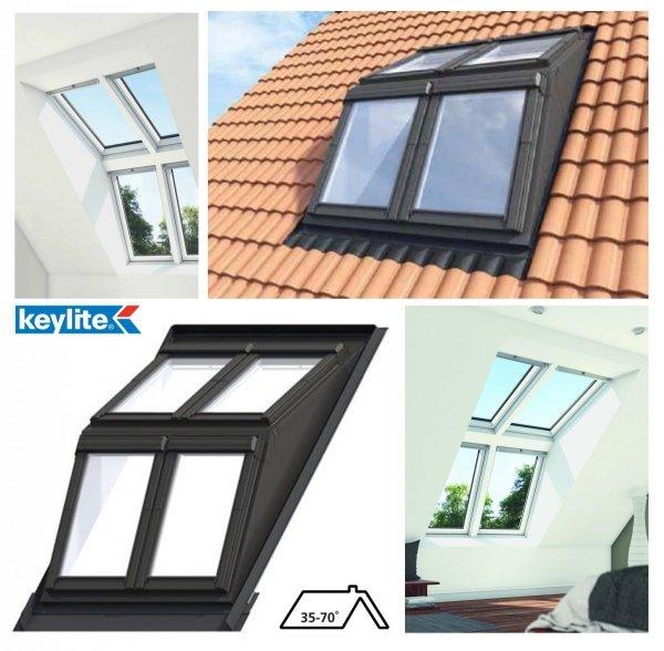Keylite Flach-DachSystem, Dachgaubensystem DRX, Lichtlösung, Holzgehäuse Dachgabensystem HOUSE-4U.DE